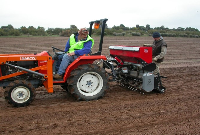 Greening Australia's specialist Grassland Direct Seeding Machine