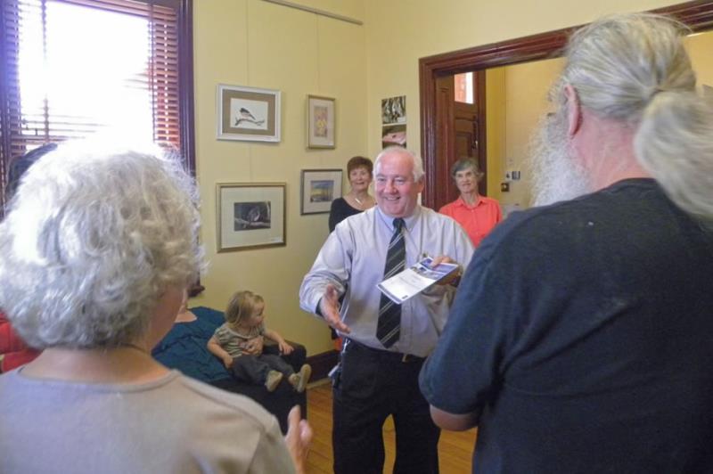 Melton Mayor Cr Bob Turner presenting awards to prize winners