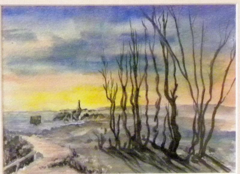 'Aireys Inlet Burnoff' - watercolour by Veronica Schwartz