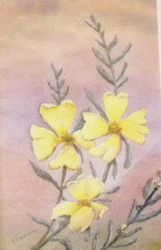 'Gold' - watercolour by Veronica Schwartz