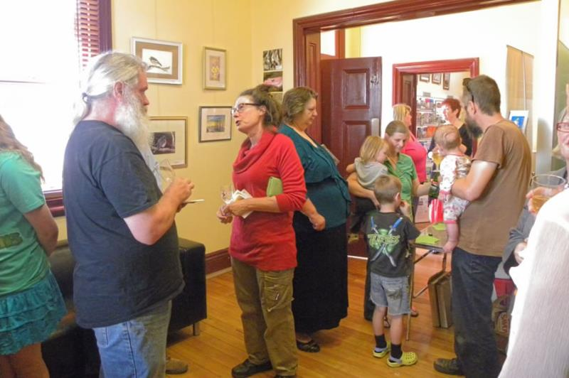 Visitors to Exhibition of Environmental Art by Pinkerton Landcare and Environment Group