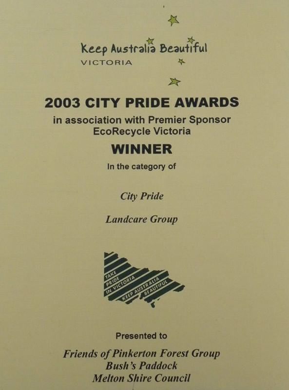 2003 City Pride Awards