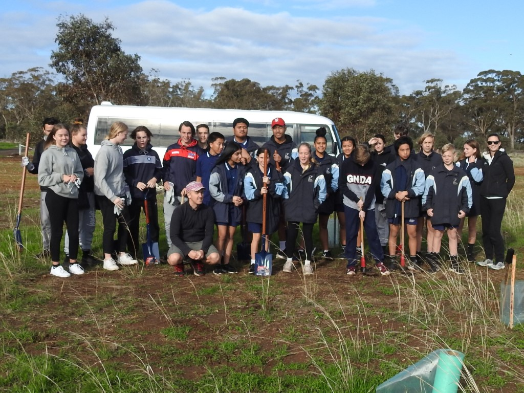 Melton Secondary College: planting at Pinkerton Link Friday 14th June 2019